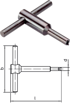Assembly tool for mounting via slot (pin sided)