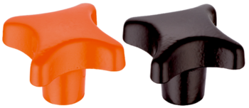 Palm Grips DIN 6335 cast iron, plastic-coated