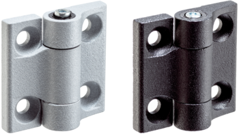 Hinges with adjustable friction resistance