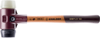SIMPLEX soft-face mallets Rubber composition / nylon; with cast iron housing and high-quality wooden handle  IM0008941 Foto ArtGrp