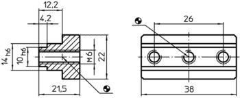 Adapter Slot Centering Blocks system V40/V70  IM0000959 Zeichnung