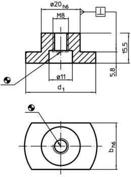 Lardons étagés avec fixation cylindrique  IM0002522 Zeichnung