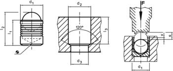 Bouchons d'étanchéité Expander<sup>®</sup> douille en acier cémenté  IM0002550 Zeichnung