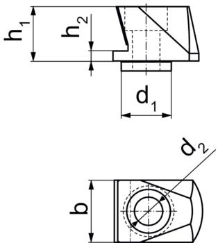 Mors d'adaptation version basse  IM0005474 Zeichnung