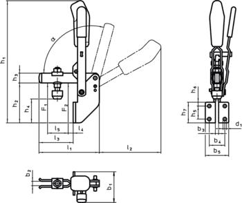 Accessories Toggle Clamps  IM0009345 Zeichnung