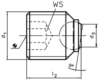Ball-Ended Thrust Screws headless, short  IM0002379 Zeichnung en
