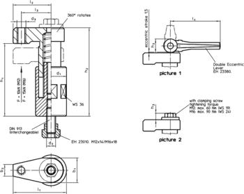 Down-Thrust Clamps swivelling, size 60  IM0010035 Zeichnung en