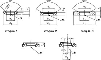 Rondelles convexes / concaves DIN 6319  IM0002198 Zeichnung fr