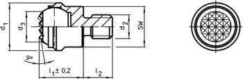 Cimblots oscillants avec insert carbure, striés  IM0002354 Zeichnung fr