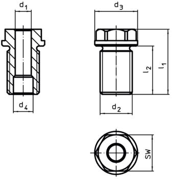 Douilles de fixation pour broches de levage  IM0002848 Zeichnung fr