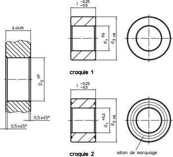 Douilles pour broches de positionnement  IM0005526 Zeichnung fr