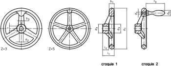 Volants DIN 950 alliage léger  IM0006161 Zeichnung fr