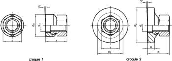 Écrous six pans avec rondelle concave  IM0007164 Zeichnung fr