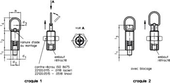 Accessoires pour: 22120. Doigts d'indexage avec anneau de traction  IM0007168 Zeichnung fr