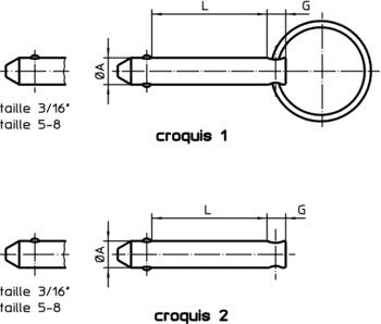 Broches à billes détentes avec billes à ressort  IM0010978 Zeichnung fr